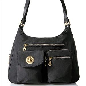 Baggallini San Marino Satchel Black Shoulder Bag